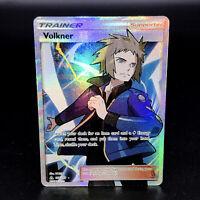 Volkner Full Art Holo Trainer Supporter SM Ultra Prism 156/156 Rare Pokemon Card