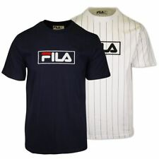FILA Men's Striped & Logo S/S T-Shirt (181)