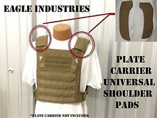 EAGLE IND UNIVERSAL PLATE CARRIER SHOULDER PADS STRAPS COYOTE TAN NEW MADE USA