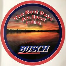 Busch Beer Metal Fishing Sign