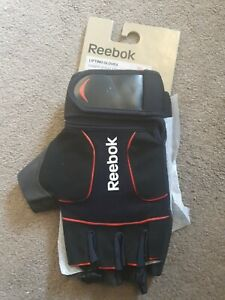 New Authentic Reebok Mens Training Lifting Gloves XXL Black