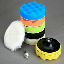"9Pcs 4"" Sponge Woolen Polishing Waxing Buffing Pads for Car Polisher Cleaning"