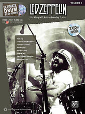 LED ZEPPELIN - Ultimate Drum Play-Along Vol.1 Book & 2CD *NEW* Sheet Music Drums