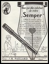 Publicité Stylo Plume Porte Plume SEMPER  vintage print ad  1924 -2h
