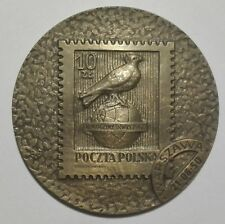 POLAND STAMPS Medal of 25 anniversary of the Polish Philatelic Union, 1950
