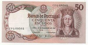 PORTUGAL 50 ESCUDOS 1964 PICK 168 UNC+-