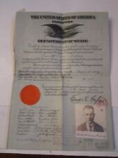 1921 U.S. PASSPORT - CANCELLED - COLLECTIBLE - NUMEROUS STAMPS - TUB SC-1