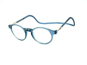 +1.75 CliC Reading Glasses Readers, Front Magnetic Connectors, Light Blue #07I