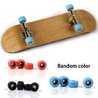 Complete Wooden Fingerboard Finger Skate Board Grit Box Foam Tape Maple Toy SH