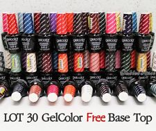 OPI GelColor Kit SET OF 30 + FREE BASE &TOP Soak Off Gel Nail Colour UV Led Lot