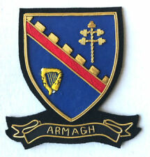 HAND EMBROIDERED IRISH COUNTY - ARMAGH - COLLECTORS HERITAGE ITEM TO BUY CP MADE