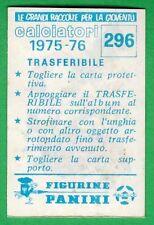 TRASFERIBILE CALCIATORI PANINI 1975/76 - NUOVO/NEW N.296 MASCOTTE - VERONA