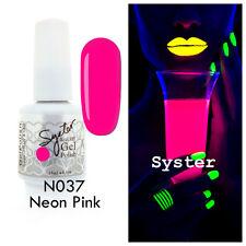 SYSTER 15ml Nail Art Soak Off Color UV Lamp Gel Polish N037 - Neon Pink