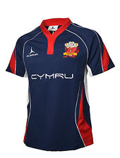 Welsh Rugby Supporters Shirt Blue Away Jersey S-XXXXL Olorun Wales Rugby Shirt