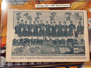 1907 CHICAGO CUBS WORLD SERIES CHAMPIONS ORIGINAL TEAM PHOTO Post CARD RARE NEW