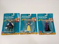 DISNEY SNOW WHITE AND THE SEVEN DWARFS QUEEN AND PRINCE 3 FIGURE SET