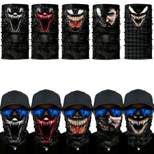 3D UV Dust Halloween Man Venom Face Cover Balaclava Scarf Ski Motorcycle Bandana