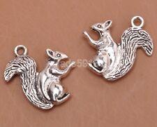 20pcs Tibetan silver charms squirrel Charm Pendant Finding Beading Making H3188