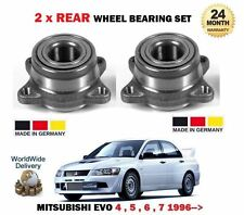 FOR MITSUBISHI LANCER EVO 5 6 7 8 9 1996--> 2x REAR WHEEL BEARING KIT SET