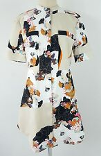 3.1 Phillip Lim For Target Oriental Asian Floral Print Dress Zip Front L/G