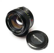 CLAed! Minolta MC Rokkor-X PG 50mm f/1.4 Mount Prime Lens Mirrorless Adaptable