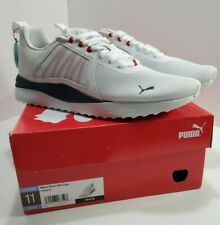 NEW PUMA Men's Pacer Net Cage Softfoam Shoes 374322-04 White Red Blue Size 11