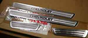 Brushed Satin Door Sill Guards (4 Piece) for 2011-2015 Chevrolet Cruze OEM GM
