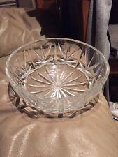 Large Heavy Crystal Glass Salad Fruit Display Bowl