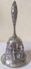 RARO GRANDE ARGENTO ANTICATO Olandese Hand Bell/Servo Bell/Cena Bell 1921