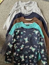 Bundle Of 6 Long Sleeved T-shirt Tops Age 4-5