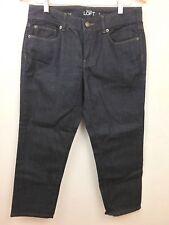 Ann Taylor Loft Womens Jeans Dark Wash Blue Curvy Crop Denim