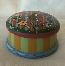 """Adorable Midwest of Cannon Falls Handpainted Covered Trinket Box Rabbit 2 1/2"""""""
