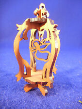 scroll saw angel in lantern design ornament wood 3""