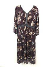 Ladies Monsoon Mix Colour Boho Paisley Pattern Knee Dress UK Size 18 BNWT