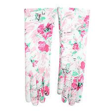 Prada Women's 100% Lambskin Leather 1GG053 Floral Print Gloves Sz 7.5