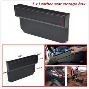 1 x Leather seat storage box,Fits the gap between seat console of most cars.
