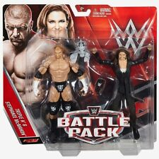 TRIPLE H & STEPHANIE MCMAHON WWE MATTEL BATTLE PACK SERIES 42 2 FIGURE SET NEW