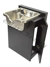 Brushed Stainless Bowl Spa/Salon Equipment with Black Cabinet TLC-1167 -FC