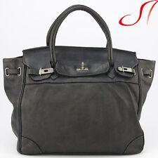 Vintage Used Shopper Schwarz Ledertasche Ledershopper echt Leder Handtasche NEU