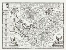 Cheshire Antique Europe County Maps