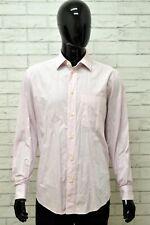 Camicia GIANFRANCO FERRE Uomo Taglia Size XL Maglia Shirt Man Manica Lunga Rosa