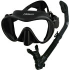 Promate Scuba Frameless Dive Mask Dry Snorkel Gear Set Snorkeling Spearfishing