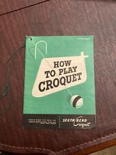 "Vintage ""How To Play Croquet"" Pamphlet - South Bend Croquet - 1946, Rare"