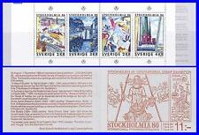SWEDEN 1985 STOCKHOLMIA booklet SC#1542a MNH PAINTINGS