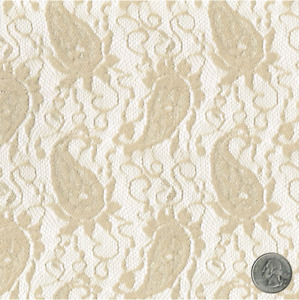 French Paisley Pattern Lace Fabric by the Yard - Style 152