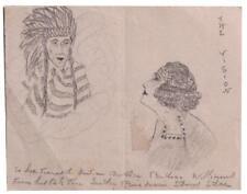 Native American Distinguished Service Cross WWI Veteran Correspondence Sketch