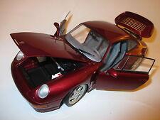 Porsche 911 (993) turbo coupé en rouge rosso rouge roja red metallic, ut dans 1:18!