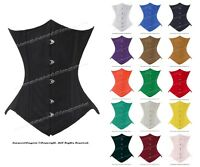 Heavy Duty 26 Double Steel Boned Waist Training Cotton Underbust Corset #8033-TC