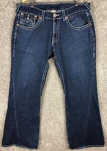 True Religion Made In The USA Joey Super T Denim Blue Jeans Men's Sz 40 X 32