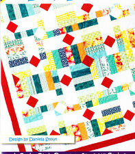 """Drop Diamonds - pieced quilt PATTERN for 2.5"""" strips - Cozy Quilts - 5 sizes"""